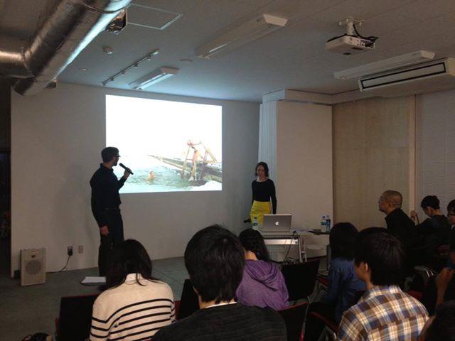 フィンランド若手建築家による講演会風景