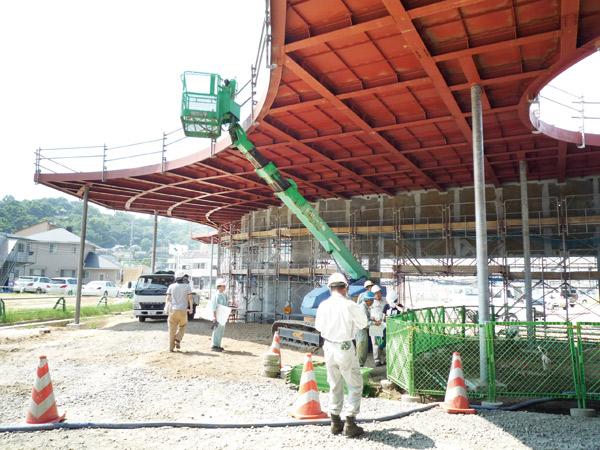 熊本駅西口駅前広場ロータリーは、205社競合のコンペを勝ちとり、構造設計を担当。